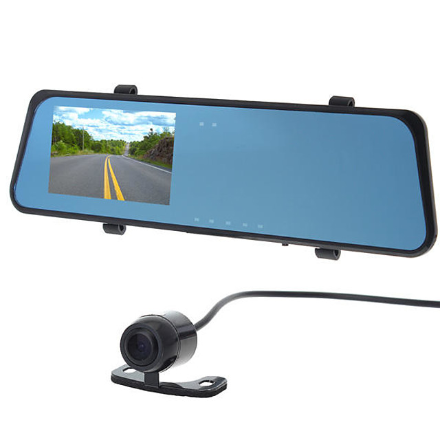 H701 Dual Lens Car DVR 120 Degree / 130 Degree Wide Angle 4.3 inch LCD Dash Cam with G-Sensor / motion detection / Loop-cycle Recording Car Recorder