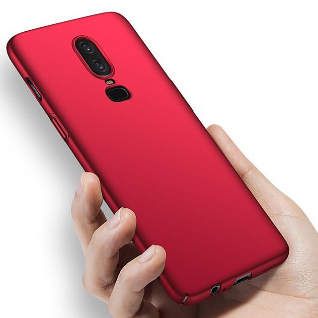 telefoon hoesje Voor OnePlus Volledig hoesje Een Plus 6T Een Plus 5 OnePlus 5T OnePlus 6 Schokbestendig Ultradun Mat Effen Kleur Moeilijk PC