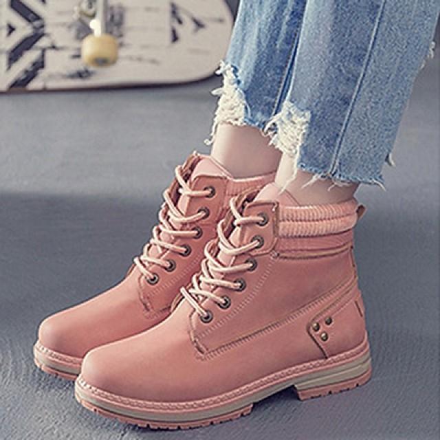 Amazon.com   Womens Chunky Heel Square Toe Combat Boots