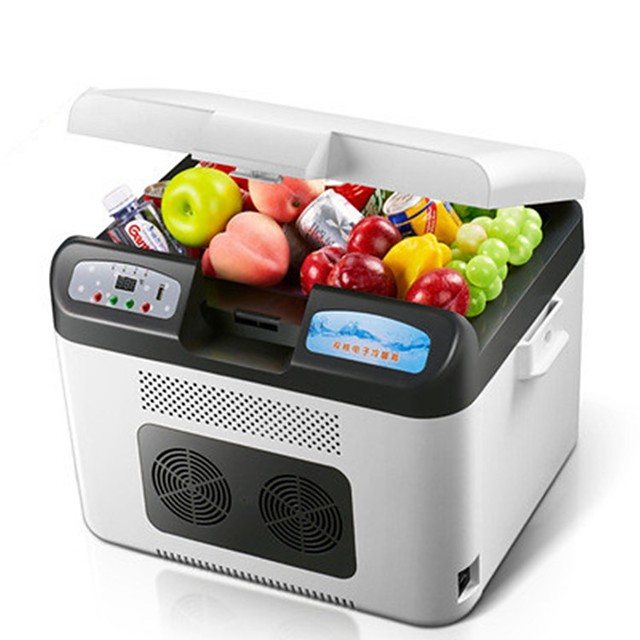 26L Car Refrigerator Low Noise/Portable/No Smell,the lower limit can reach -5 °C For Maybach/Martin/Isdera/Passat/Chevrole