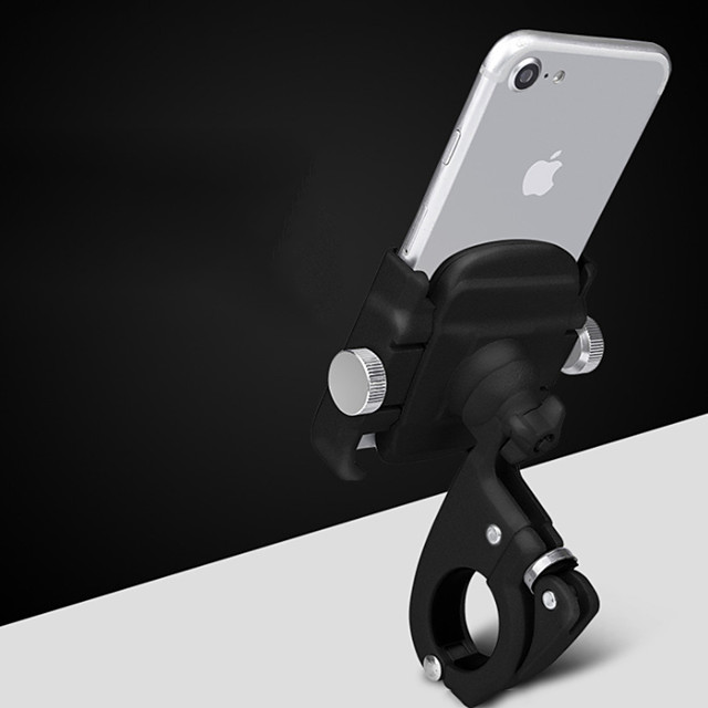 Bike Phone Mount Adjustable / Retractable Anti-Slip Universal for Road Bike Mountain Bike MTB Aluminum Alloy iPhone X iPhone XS iPhone XR Cycling Bicycle Black Silver