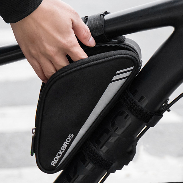 Bicycle Storage Bag Crossbar Bag Bike Frame Bag Triangle Bike Pouch Bag Outdoor Mountain Bike Adjustable Strap Bag for Cycling