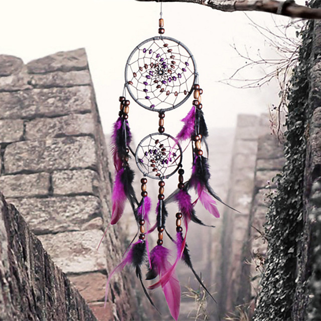 Handmade Dream Catchers Feather Bohemia Style Wall Decorations