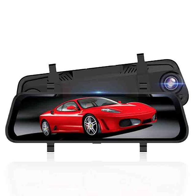 1080p /1296P HD / Night Vision Car DVR  Streaming Rearview Mirror 170 Degree Wide Angle 10 inch Dash Cam with Night Vision / G-Sensor / Parking Monitoring Car Recorder