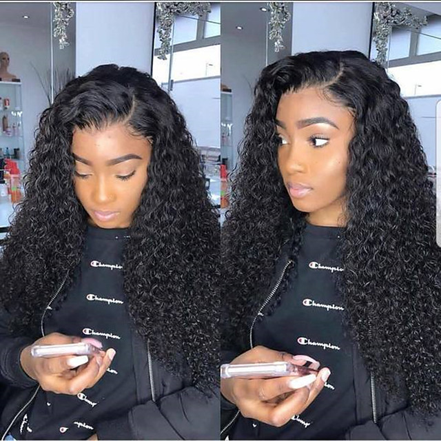 Synthetic Wig Afro Curly Asymmetrical Wig Very Long Black Synthetic Hair 26 inch Women's Sexy Lady curling Fluffy Black