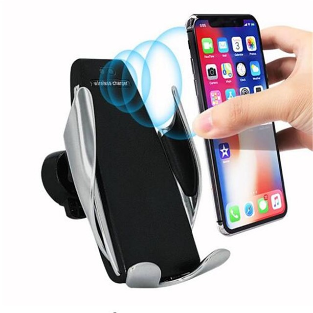 S5 Wireless Charger Automatic Sensor Car Wireless Charger For iPhone 11 Pro Max Xs Max Xr X Samsung S10 S9 Intelligent Infrared Fast Wirless Charging Phone Holder