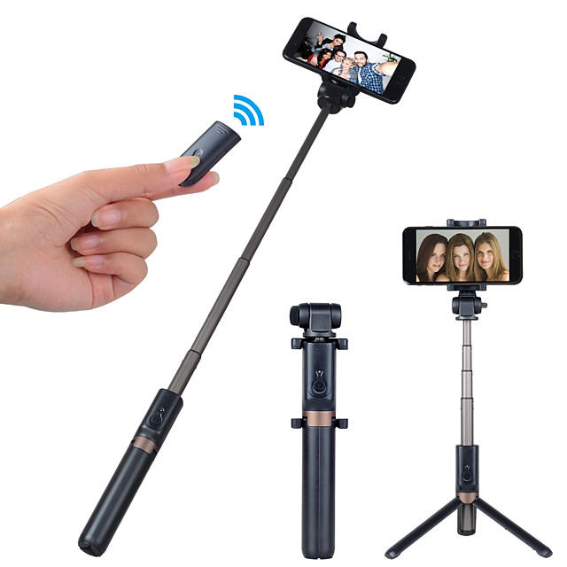 APEXEL Selfie Stick Bluetooth Extendable Max Length 68 cm For Universal Android / iOS Universal