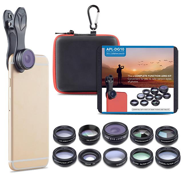 Mobile Phone Lens Lens with Filter / Fish-Eye Lens / Long Focal Lens Glasses / Aluminium Alloy 2X 20 mm 15 m 198 ° Cute / Cool