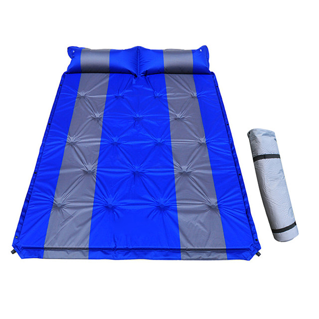 Sleeping Pad Self-Inflating Sleeping Pad Air Pad Outdoor Camping Lightweight 3D Pad Thick PVC(PolyVinyl Chloride) PVC Tarpaulin for 2 person Climbing Beach Camping / Hiking / Caving All Seasons Blue