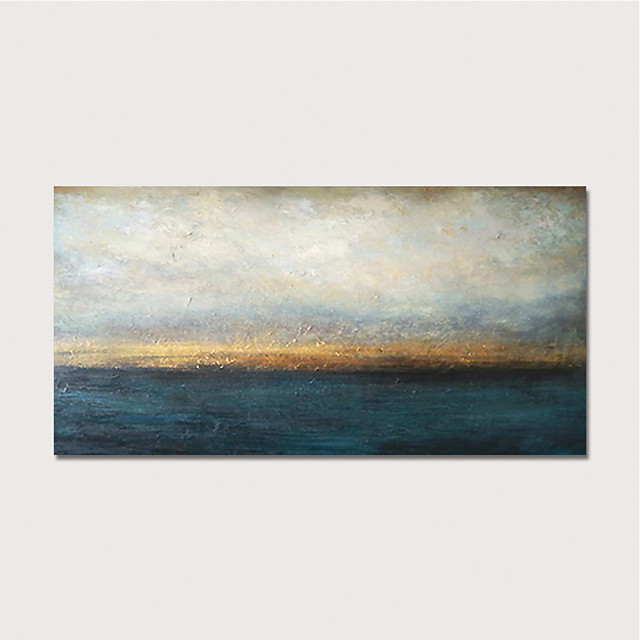 Oil Painting Hand Painted Horizontal Abstract Landscape Modern Stretched Canvas