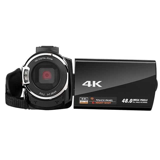 QQT V13-1 ведет видеоблог Быстрая зарядка / Легко для того чтобы снести / Многофункциональный 64 GB 1080P / 60 кадров в секунду 16 mp 8X 1920 x 1080 пиксель 4.1 дюймовый 16.0 Мп КМОП H.264