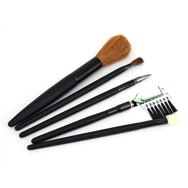 Professional Makeup Brushes 5 pcs Soft Synthetic Horse Hair Pony Brush Wooden / Bamboo for Eyeliner Brush Blush Brush Foundation Brush Makeup Brush Lip Brush Eyebrow Brush Eyeshadow Brush