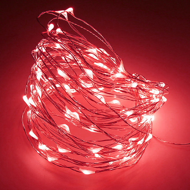 2m String Lights 20 LEDs 1pc Warm White RGB White Creative Party Decorative Batteries Powered