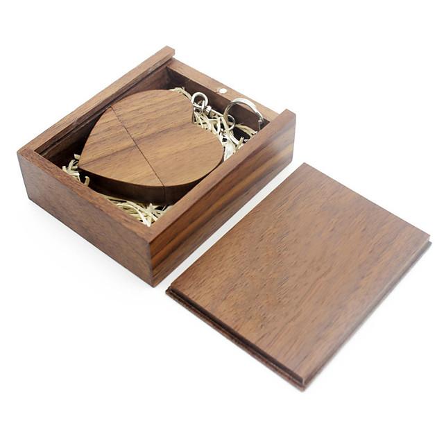 Ants 16GB usb flash drive usb disk USB 2.0 Wooden / Bamboo love wooden gift box