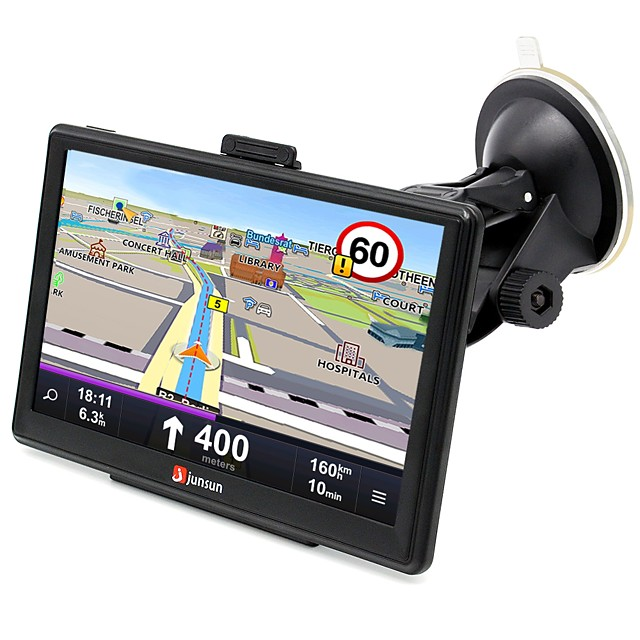 JUNSUN D100-PT 7 inch Car 3D GPS Bluetooth Navigation  AV-IN interface support  windows CE 6.0 maps with free updates