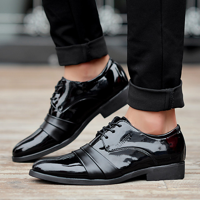 Men's Summer / Fall Business / Vintage Party & Evening Office & Career Oxfords Nappa Leather Breathable Wear Proof Black
