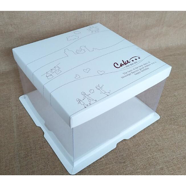Cuboid Cardboard Paper Favor Holder with Pattern / Print Favor Boxes / Candy Jars and Bottles / Storage Box - 1pc