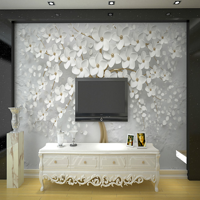 White Rich Tree Suitable for TV Background Wall Wallpaper Murals Living Room Cafe Restaurant Bedroom Office XXXL(448*280cm)