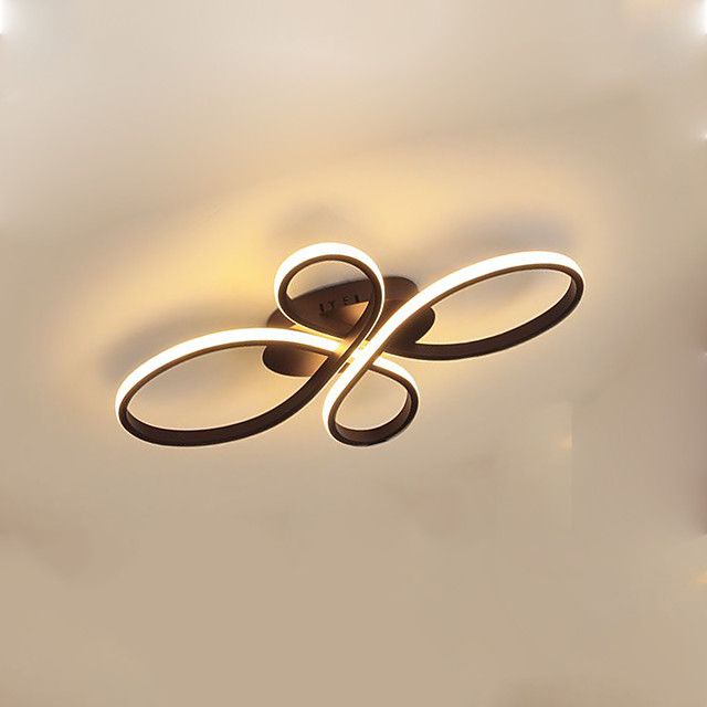 1-Light 38 cm Flush Mount Lights Aluminum Silica gel Geometrical / Novelty Painted Finishes Artistic / LED 110-120V / 220-240V