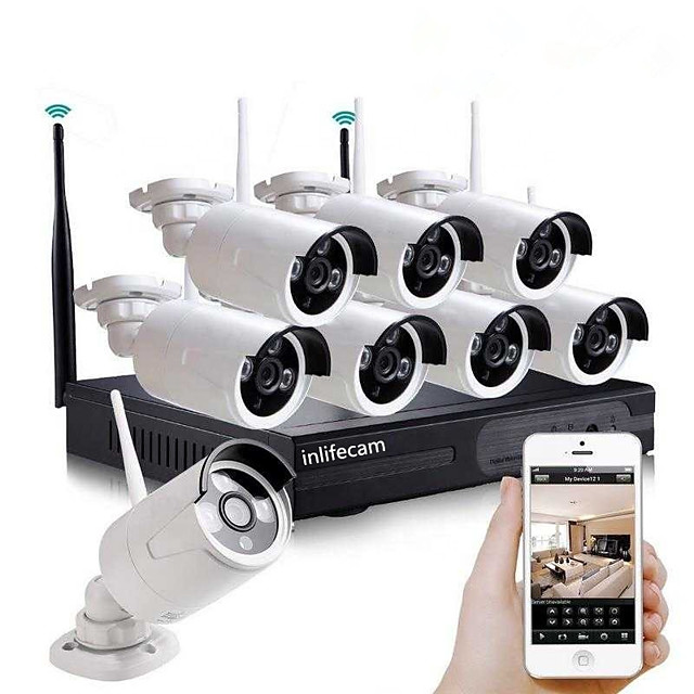 8CH 720P Newest fresh factory 720P 8channel special design wireless security camera wifi NVR Kit