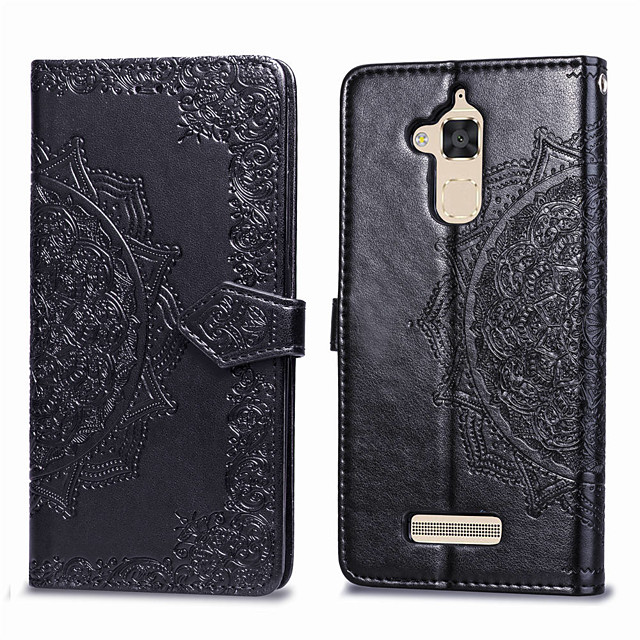 Case For Asus Zenfone 3 Max ZC520TL Card Holder / Flip Full Body Cases Solid Colored Hard PU Leather for Asus Zenfone 3 Max ZC520TL