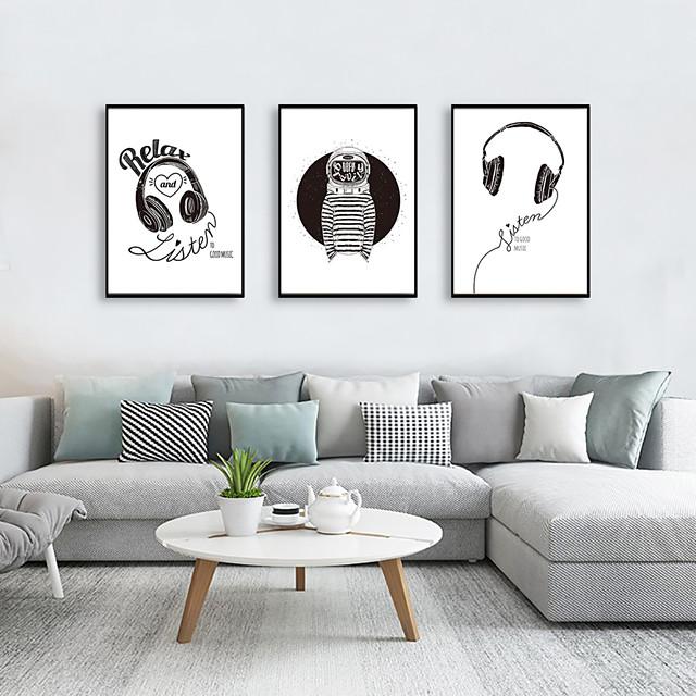Framed Art Print Framed Set - Abstract Cartoon PS Illustration Wall Art
