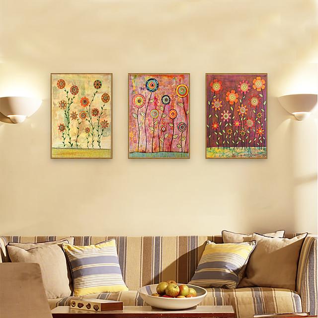 Framed Art Print Framed Set - Floral / Botanical PS Illustration Wall Art