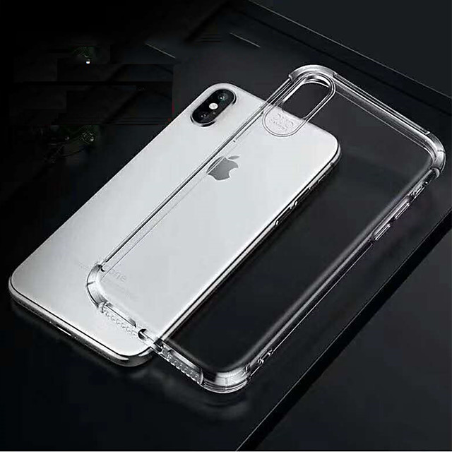 Mobile Phone Case for iPhone 6/6S/7/8/7plus/8plus/X/XS/XR/XSMAX Four-corner airbag drop-proof TPU soft shell phone case for iPhone Transparent phone case