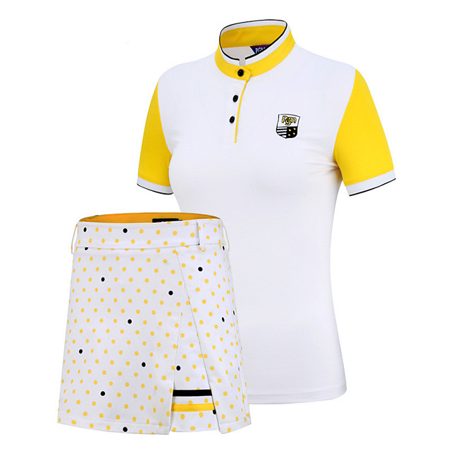 PGM Women's Tennis Golf Running Clothing Suit Color Block Spot UV Resistant Breathable Quick Dry Autumn / Fall Spring Summer Athleisure Outdoor / Short Sleeve / Stretchy / Moisture Wicking