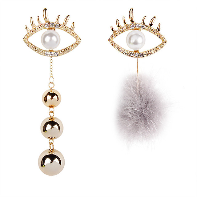 Girl Face Earrings Black and White Earrings Mismatched Earrings Modern Art Earrings Trendy Earrings