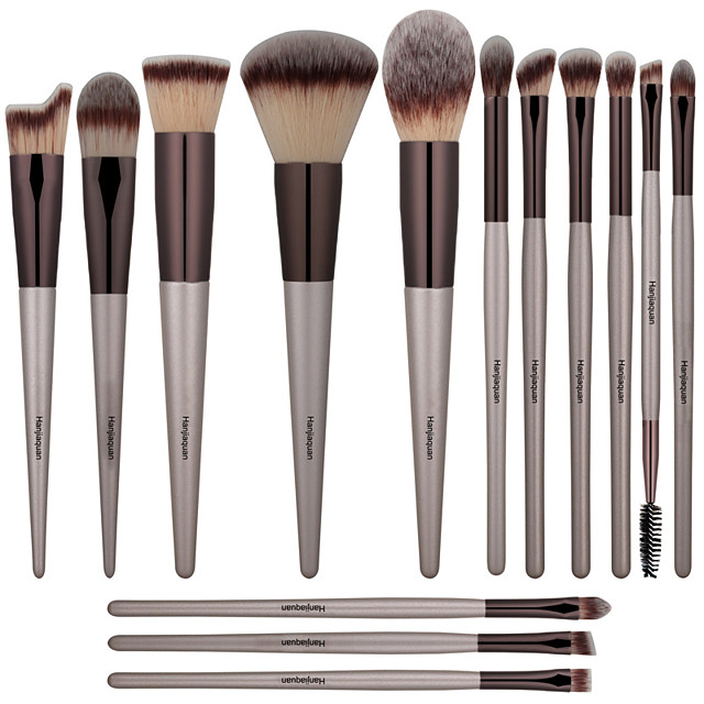 Professional Makeup Brushes 14pcs Full Coverage Comfy Wooden / Bamboo for Makeup Brush