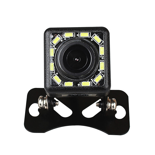 ZIQIAO 12 LED Lights 170-degree Night Vision Waterproof Car Rear View Backup Camera