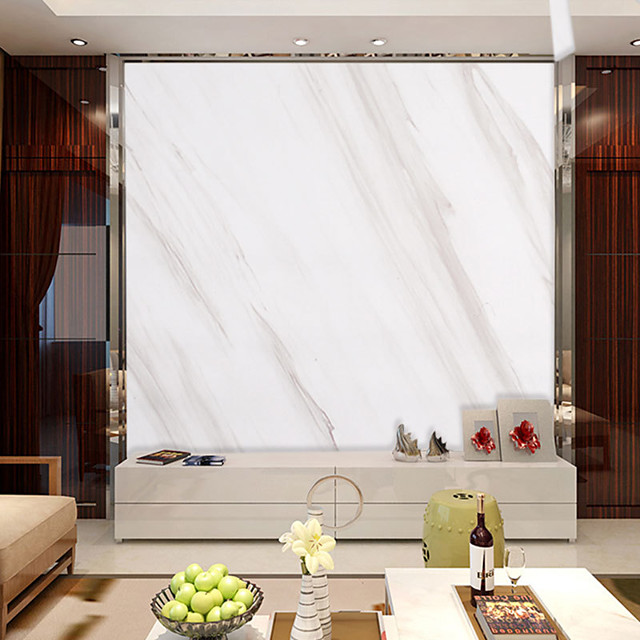 Marble Pattern Self Adhesive Wallpaper 3D Waterproof Home Decor Wallpapers for Living Room Decorative Wall Stickers 60CM*100CM