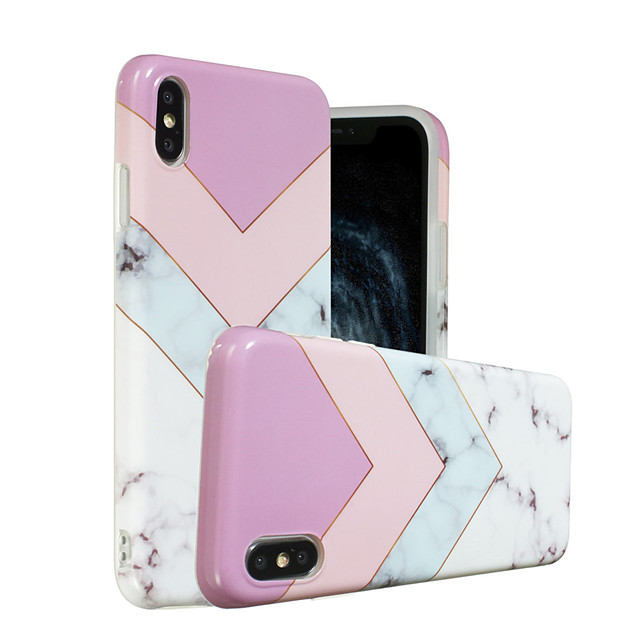 Case For Apple iPhone XS / iPhone XR / iPhone XS Max IMD / Pattern Back Cover Marble Soft TPU