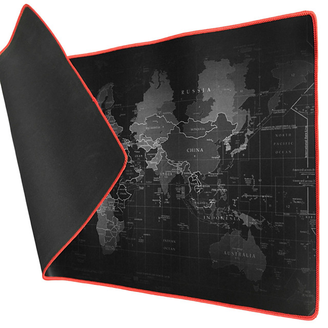 LITBest 40*90*2cm Extra Large Mouse Pad Old World Map Gaming Mousepad Anti-slip Natural Rubber Gaming Mouse Mat with Locking Edge
