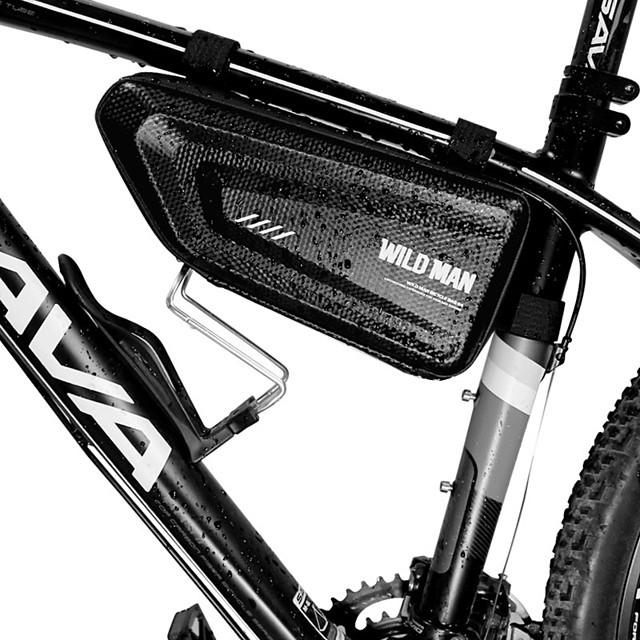 1.5 L Bike Frame Bag Top Tube Triangle Bag Waterproof Portable Rainproof Bike Bag Mesh EVA PU Bicycle Bag Cycle Bag Cycling Road Bike Mountain Bike MTB / Waterproof Zipper