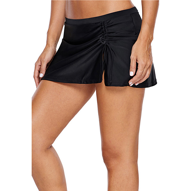 Women's Swim Skirt Bottoms Quick Dry Swimming Diving Surfing Solid Colored Summer / Stretchy