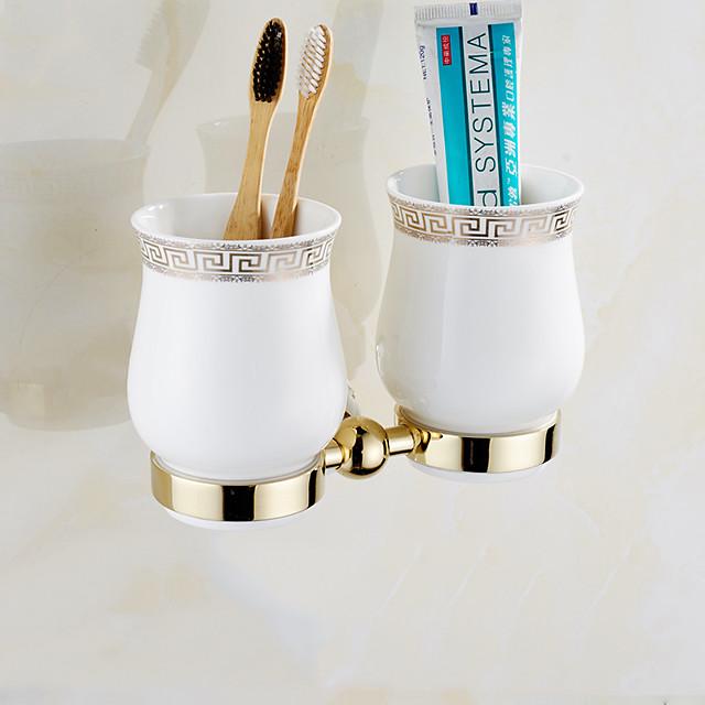 Toothbrush Holder Creative Brass 1pc - Bathroom Wall Mounted