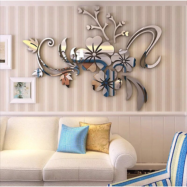 Decorative Wall Stickers 3d Wall Stickers Mirror Wall Stickers Arabesque 3d Bedroom Indoor Removable 7354325 2021 17 12