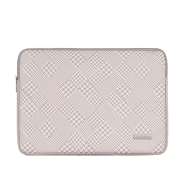 13.3 14 15.6 PU Leather Houndstooth Unisex Water Proof Shock Proof Laptop Cover Sleeves for Surface/Macbook/HP/Dell/Samsung/Sony Etc