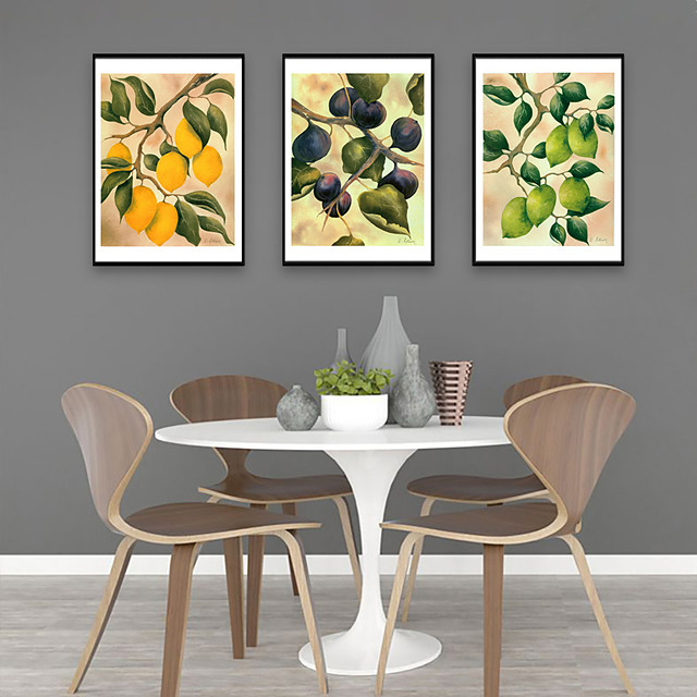 Framed Art Print Framed Set - Still Life Botanical PS Illustration Wall Art