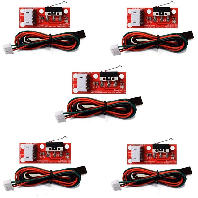 5Pcs of Mechanical Endstop Limit Switch with Cable for 3D Printer Prusa Ramps 1.4