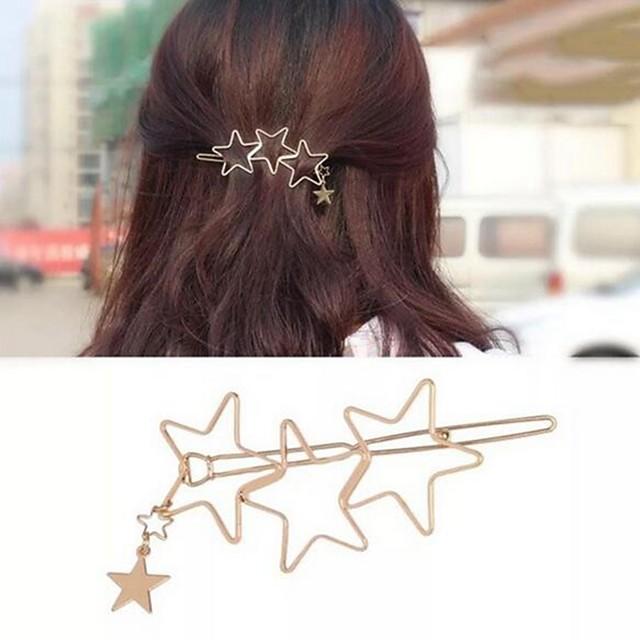 Women's Girls' Hair Jewelry For Festival Pentagram Alloy Silver Golden 1pc