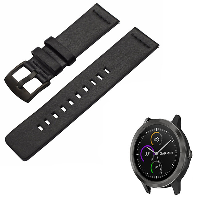 Watch Band for Vivomove HR / Vivoactive 3 Garmin Sport Band Genuine Leather Wrist Strap