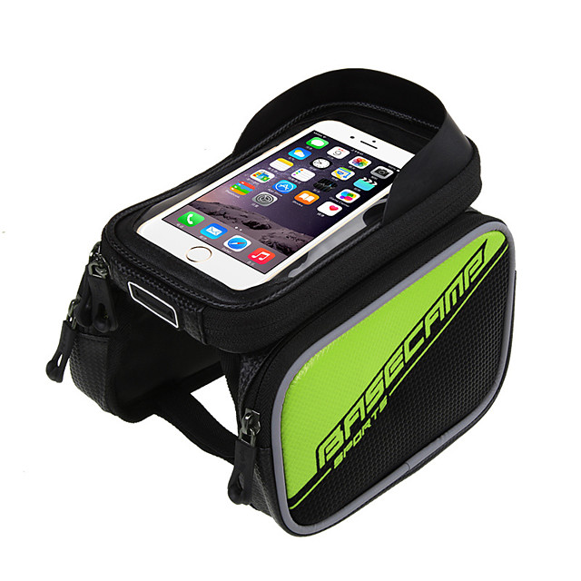 Cell Phone Bag Bike Frame Bag Top Tube 6 inch Cycling for Gold Silver Blue Recreational Cycling
