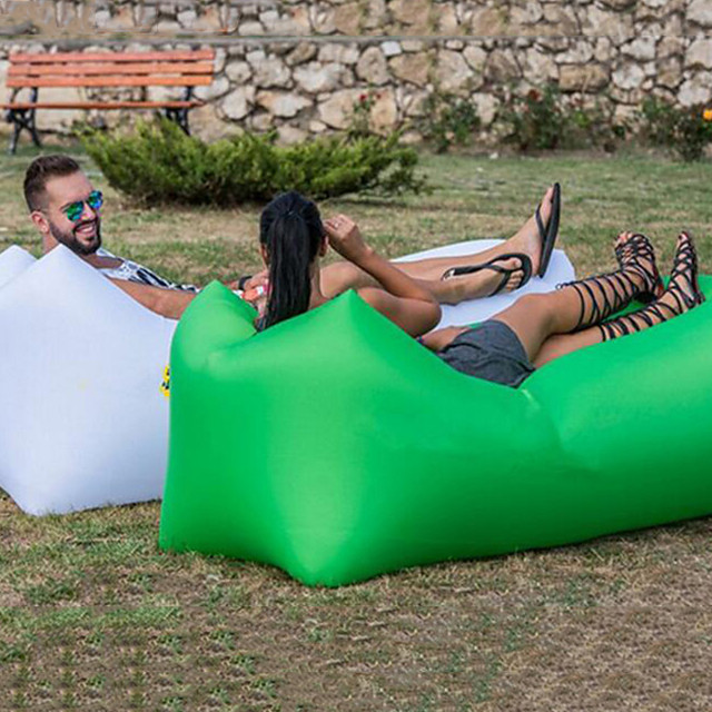 Air Sofa Inflatable Sofa Sleep lounger Air Bed Design-Ideal Couch Outdoor Camping Waterproof Portable Moistureproof Oxford 260*70 cm Camping / Hiking Beach Traveling for 1 person Spring Summer Fall