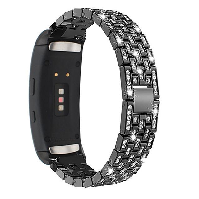 Luxury Full Diamond Metal Bracelet Strap for Gear Fit 2 Samsung Galaxy  Watch Band