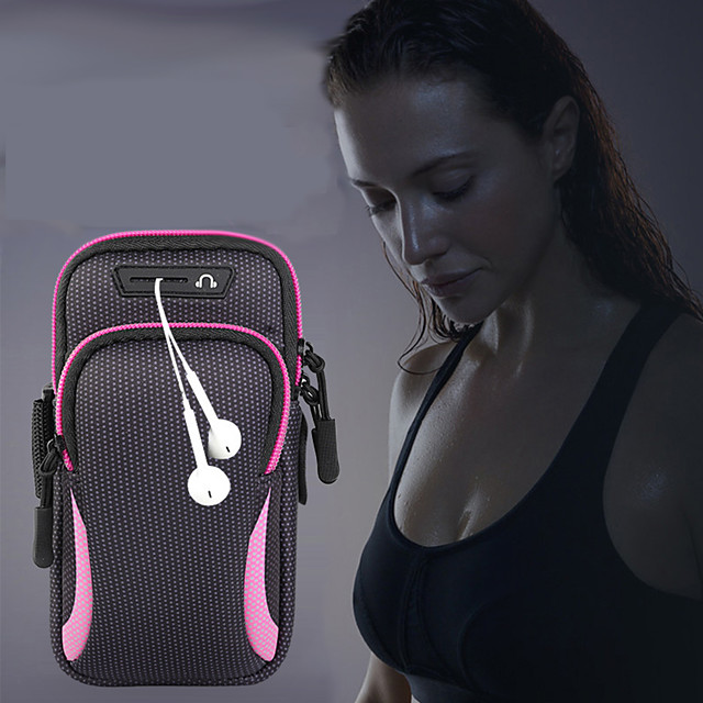 Running bag Unisex bag baggap sports jogging gym with holder bag mobile phone headset bag waterproof 6.4 inch hand bag phone case for iphone