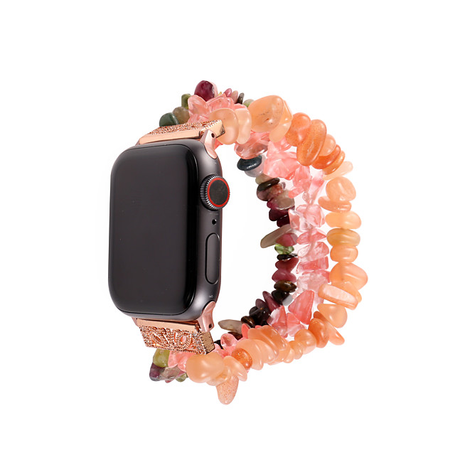 Watch Band for Apple Watch Series 6 / SE / 5/4 44mm / Apple Watch Series 6 / SE / 5/4 40mm / Apple Watch Series 3/2/1 38mm Apple Jewelry Design Elastic Beaded Wrist Strap