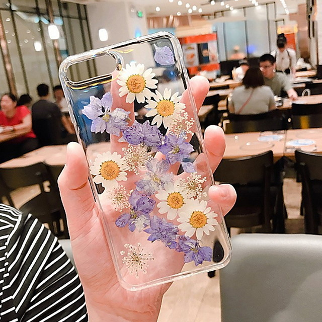 Case For Apple iPhone 12 / iPhone 12 Pro Max / iPhone XR Transparent / Pattern Back Cover Transparent / Flower Soft Silicone